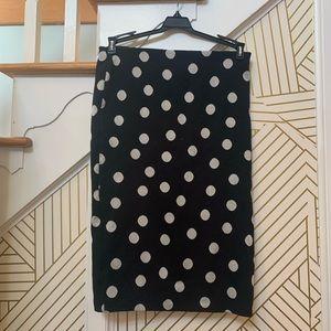 Zara Polka Dot Pencil Skirt
